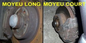 Moyeu long de Mercedes